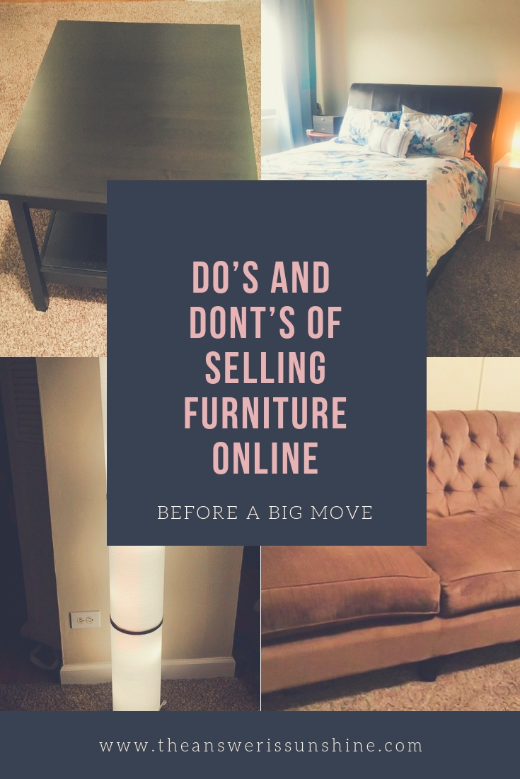 The Do S And Don Ts Of Selling Your Furniture Online The Answer Is