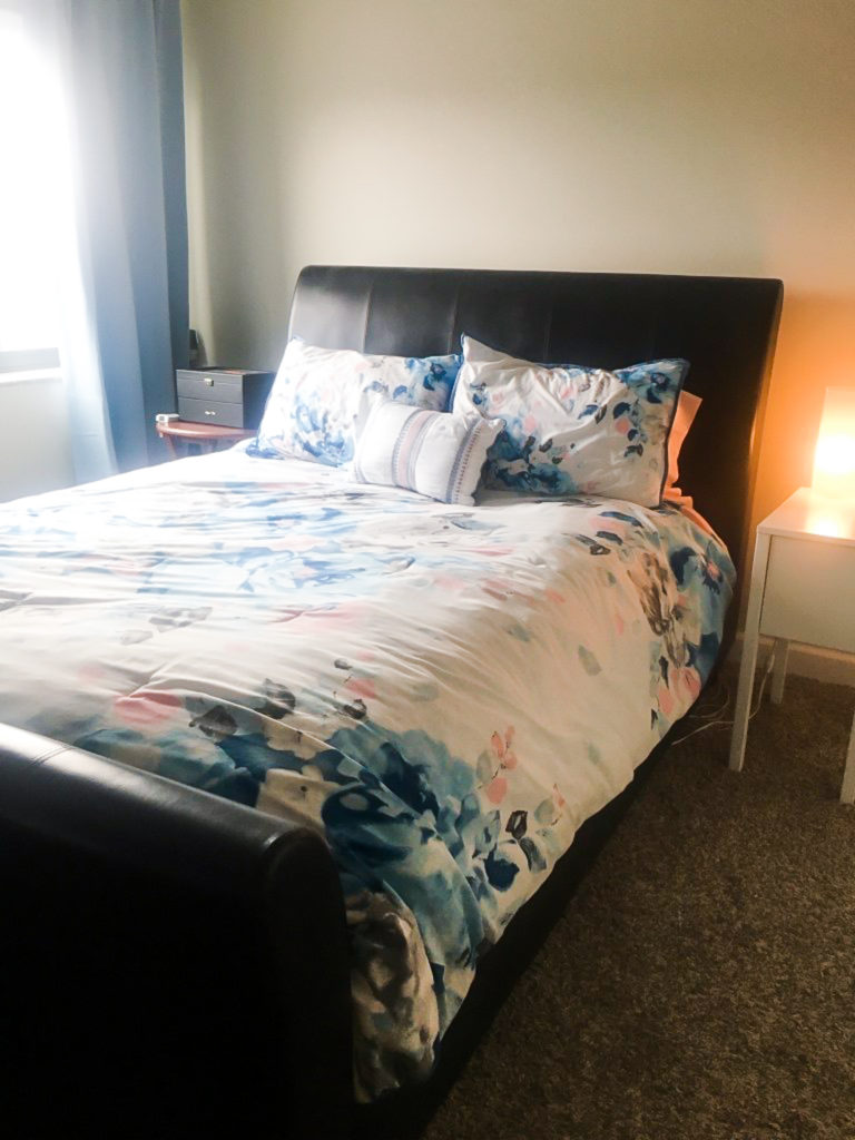 I Staged My Bed And Side Table To Show Both Size And Versatility To  Potential Buyers.